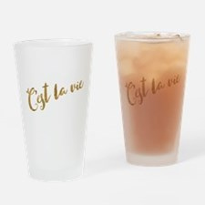 Golden Look C'est La Vie Drinking Glass