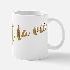 Golden Look C'est La Vie Mugs