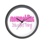 Snowmobile - It's a Girl Thing! Wall Clock