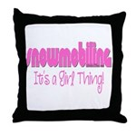 Snowmobile - It's a Girl Thing! Throw Pillow