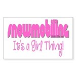 Snowmobile - It's a Girl Thing! Sticker (Rectangle