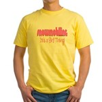 Snowmobile - It's a Girl Thing! Yellow T-Shirt