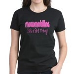 Snowmobile - It's a Girl Thing! Women's Dark T-Shi