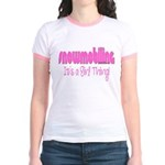 Snowmobile - It's a Girl Thing! Jr. Ringer T-Shirt