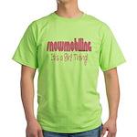 Snowmobile - It's a Girl Thing! Green T-Shirt