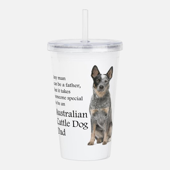 Cattle Dog Dad Acrylic Double-wall Tumbler