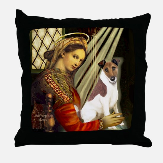 Madonna-Fox T (B) Throw Pillow