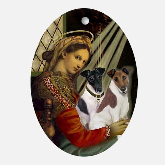 Madonna-Two Fox T Oval Ornament
