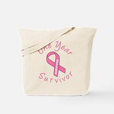 One Year Survivor Tote Bag