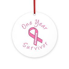 One Year Survivor Ornament (Round)
