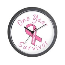 One Year Survivor Wall Clock
