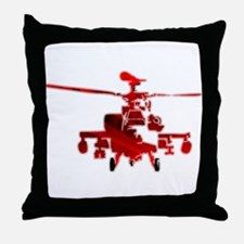 Helicopter Abstracted Throw Pillow