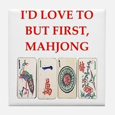 mahjong joke Tile Coaster