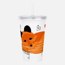 You're So Foxy Acrylic Double-Wall Tumbler