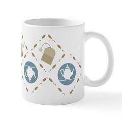 Vintage Tea Pattern Ceramic Coffee Mug