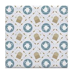 Vintage Tea Pattern Tile Drink Coaster