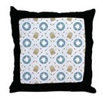 Vintage Tea Pattern Throw Pillow
