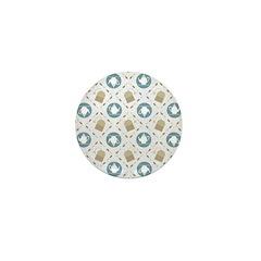 Vintage Tea Pattern Mini Button