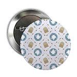 "Vintage Tea Pattern 2.25"" Button (100 pack)"