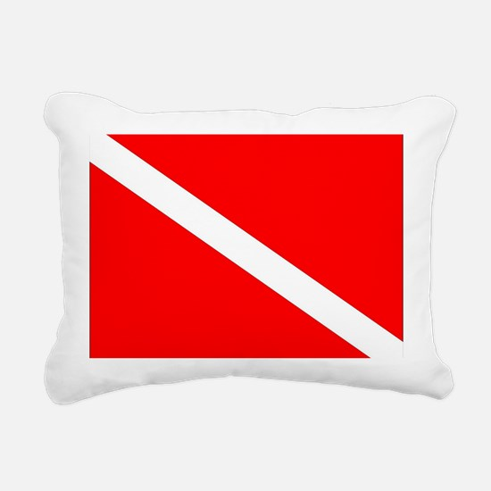Cute Scuba flag Rectangular Canvas Pillow