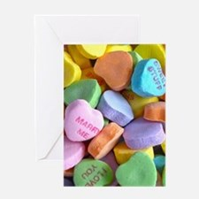 Colorful Candy Hearts Greeting Cards