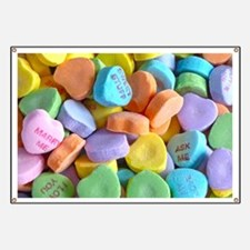Colorful Candy Hearts Banner
