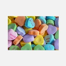 Colorful Candy Hearts Magnets