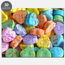 Colorful Candy Hearts Puzzle