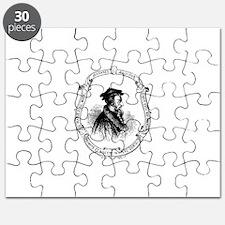 John Calvin Profile in Frame Puzzle