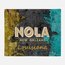 Funny New orleans Throw Blanket