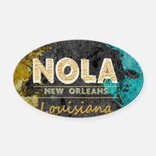 Cute New orleans Oval Car Magnet