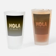 NOLA New Orleans Black and Gold Sha Drinking Glass