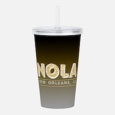 NOLA New Orleans Black Acrylic Double-wall Tumbler