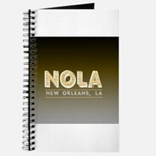 NOLA New Orleans Black and Gold Shaded Journal