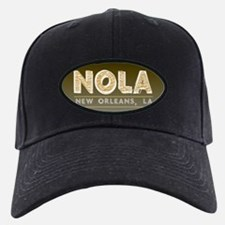 NOLA New Orleans Black and Gold Shaded Baseball Hat