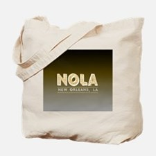 NOLA New Orleans Black and Gold Shaded Tote Bag