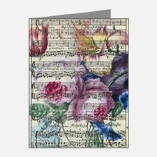 Cute Morning glory vintage Note Cards (Pk of 20)