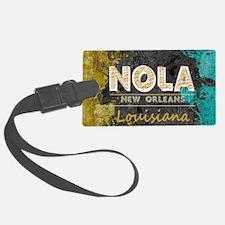 NOLA New Orleans Black Gold Turq Luggage Tag
