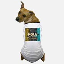 NOLA New Orleans Black Gold Turquoise Dog T-Shirt