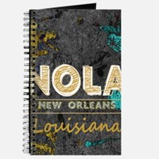 NOLA New Orleans Black Gold Turquoise Grun Journal