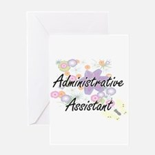 Administrative Assistant Artistic J Greeting Cards