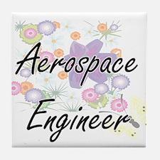 Aerospace Engineer Artistic Job Desig Tile Coaster
