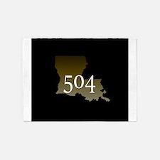 NOLA 504 Louisiana 5'x7'Area Rug