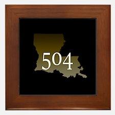 NOLA 504 Louisiana Framed Tile