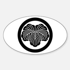 Ivy leaf in circle Decal