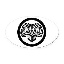 Ivy leaf in circle Oval Car Magnet