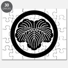 Ivy leaf in circle Puzzle