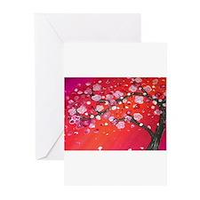 Vibrant Blossom Greeting Cards