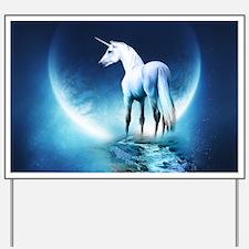 White Unicorn Yard Sign