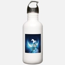 White Unicorn Sports Water Bottle